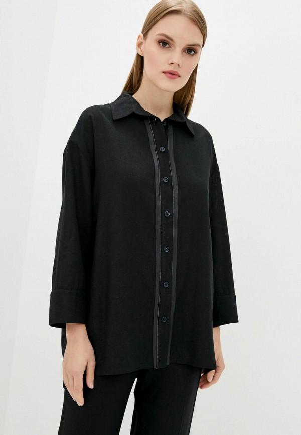 женская рубашка с длинным рукавом dolcedonna, черная
