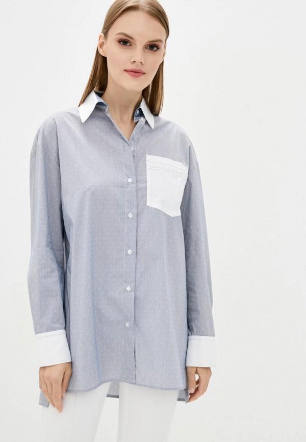 женская рубашка с длинным рукавом dolcedonna, голубая