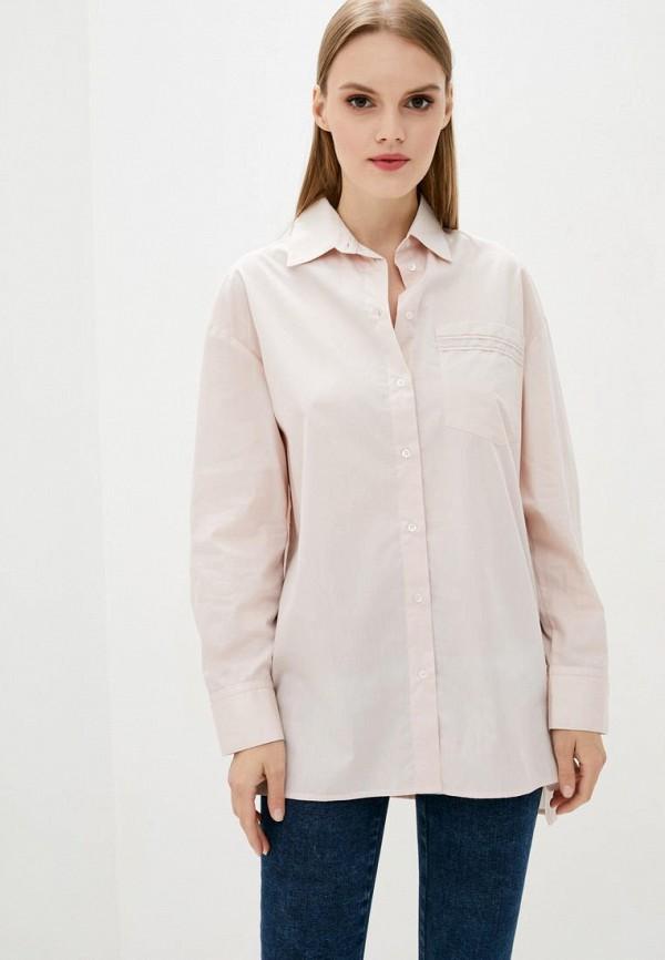 женская рубашка с длинным рукавом dolcedonna, розовая