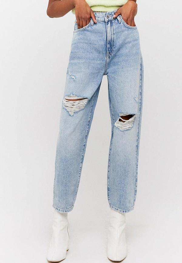 женские джинсы клеш tally weijl, голубые