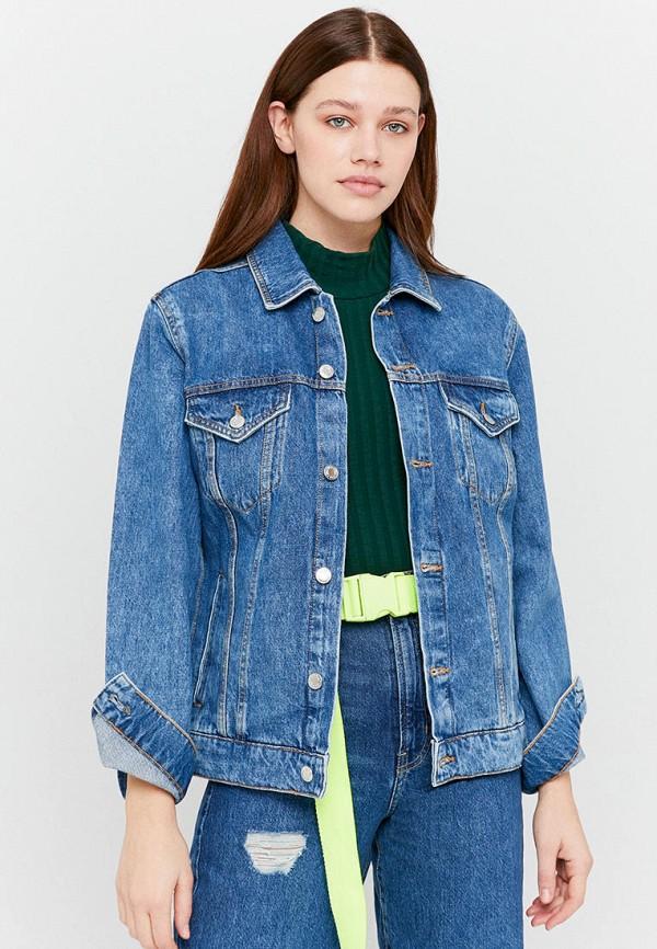 женская джинсовые куртка tally weijl, голубая