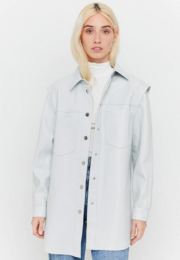 женская рубашка с длинным рукавом tally weijl, голубая