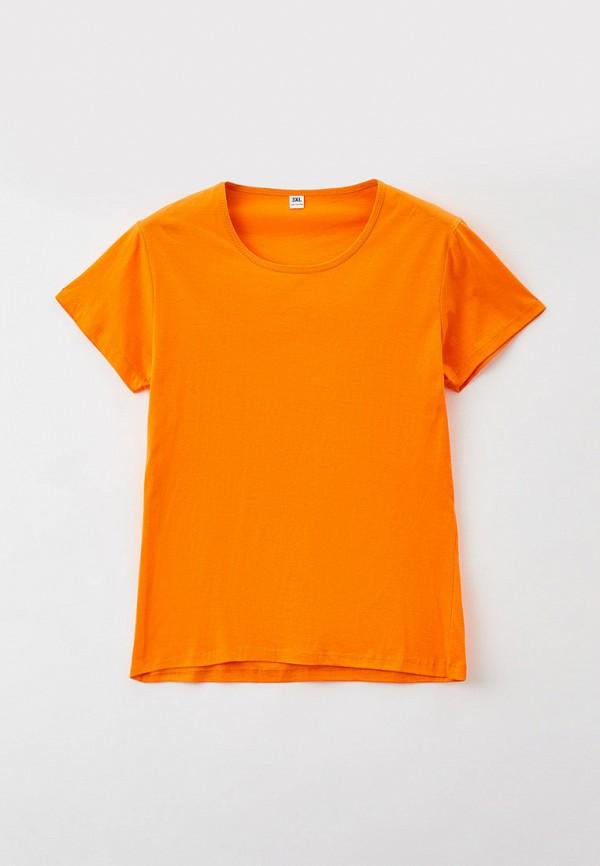 женская футболка just beauty, оранжевая