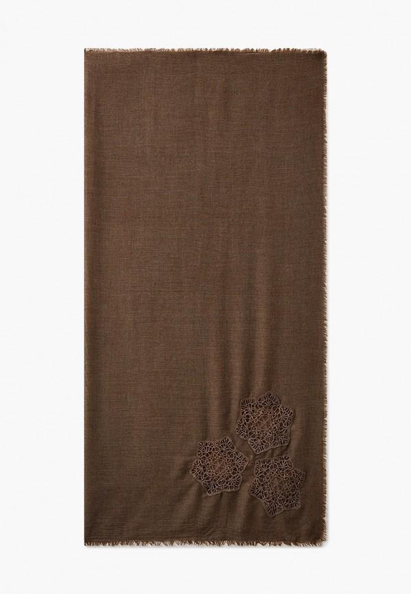 женский платок модные истории, коричневый