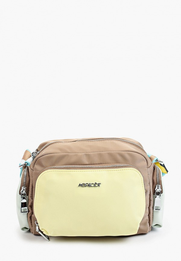 женская сумка через плечо abricot, бежевая