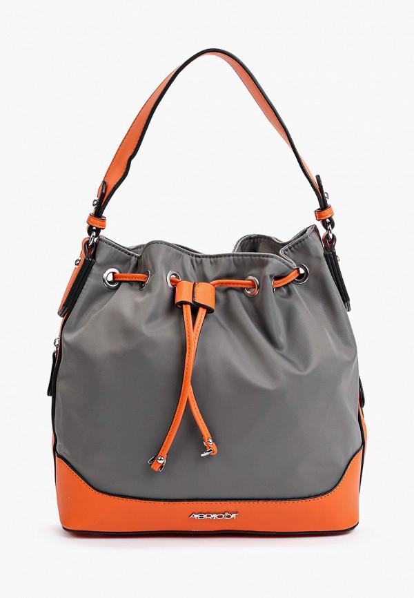 женская сумка с ручками abricot, серая