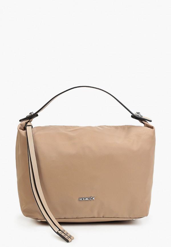 женская сумка с ручками abricot, бежевая