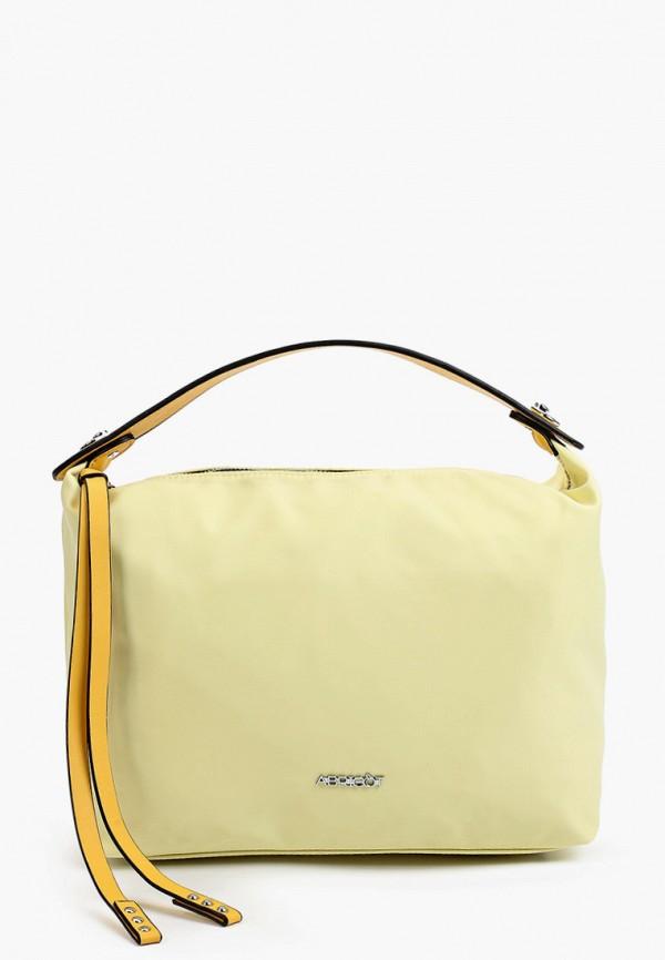 женская сумка с ручками abricot, желтая