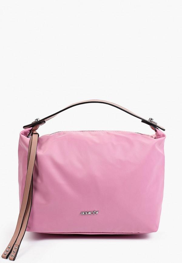 женская сумка с ручками abricot, розовая