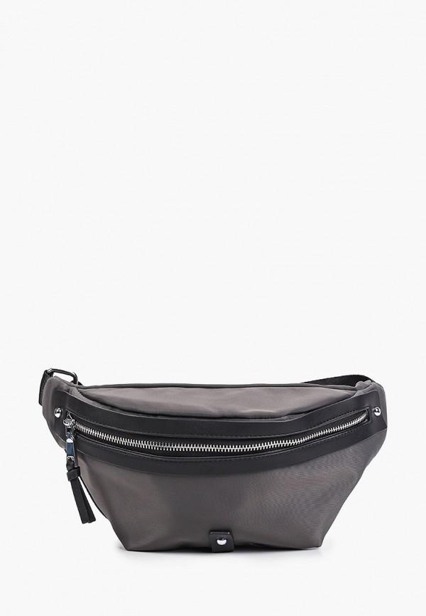 женская поясные сумка abricot, серая