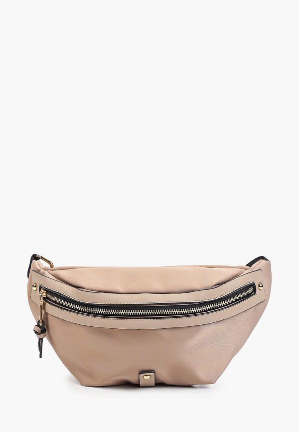 женская поясные сумка abricot, бежевая