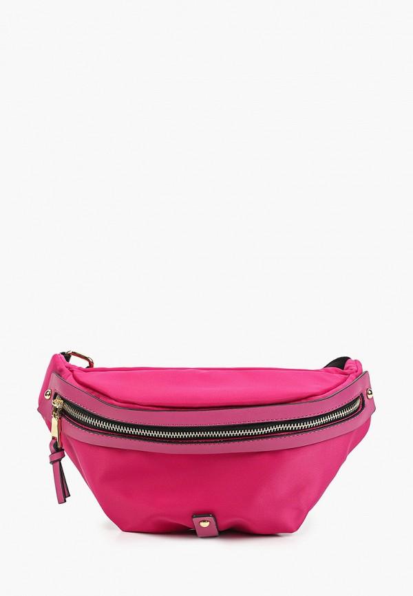 женская поясные сумка abricot, розовая