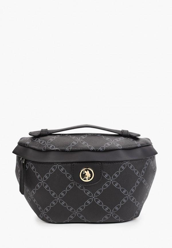 женская поясные сумка u.s. polo assn, черная