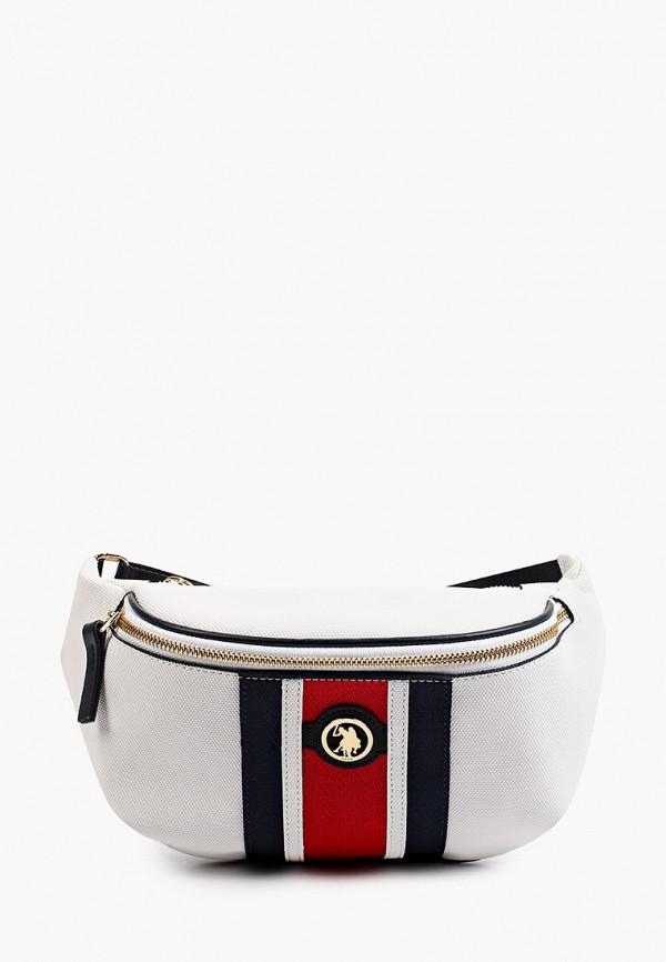 женская поясные сумка u.s. polo assn, белая