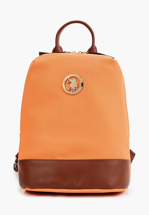 женский рюкзак u.s. polo assn, оранжевый