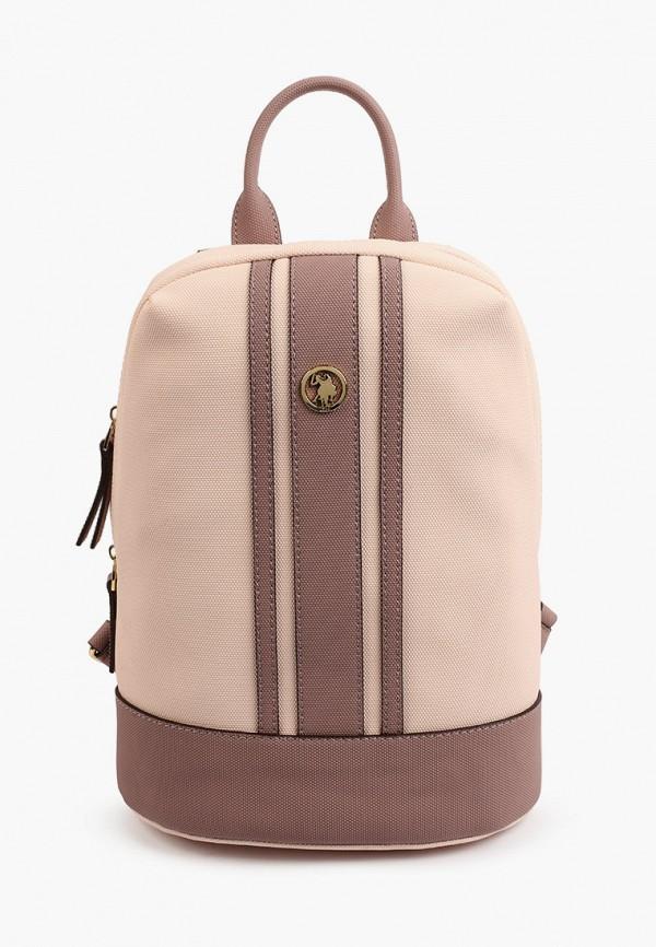 женский рюкзак u.s. polo assn, розовый
