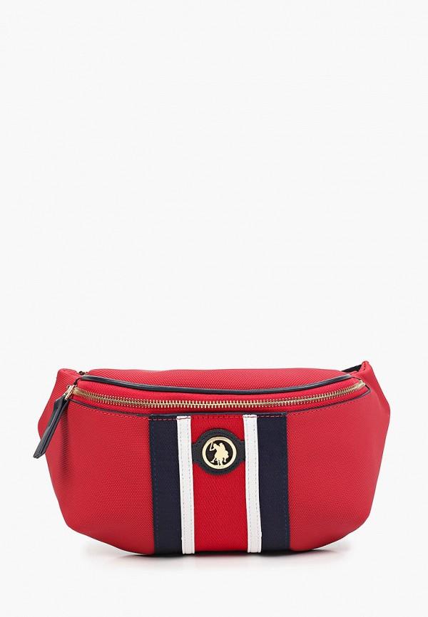 женская поясные сумка u.s. polo assn, красная