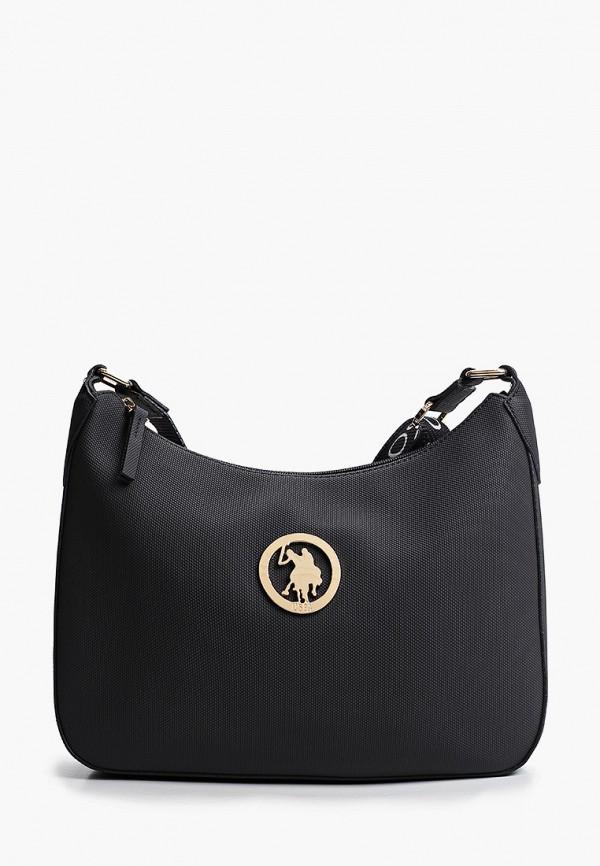 женская сумка через плечо u.s. polo assn, черная