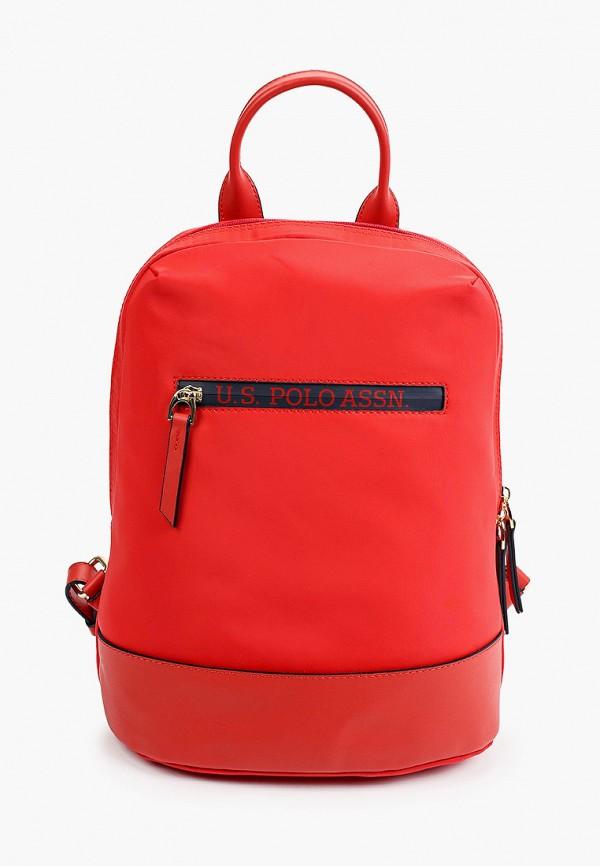 женский рюкзак u.s. polo assn, красный