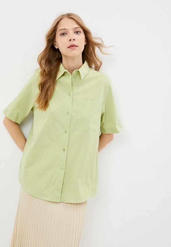 женская рубашка с коротким рукавом mark formelle, зеленая