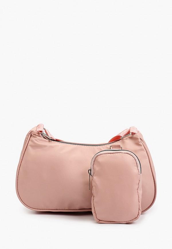 женская сумка через плечо defacto, розовая