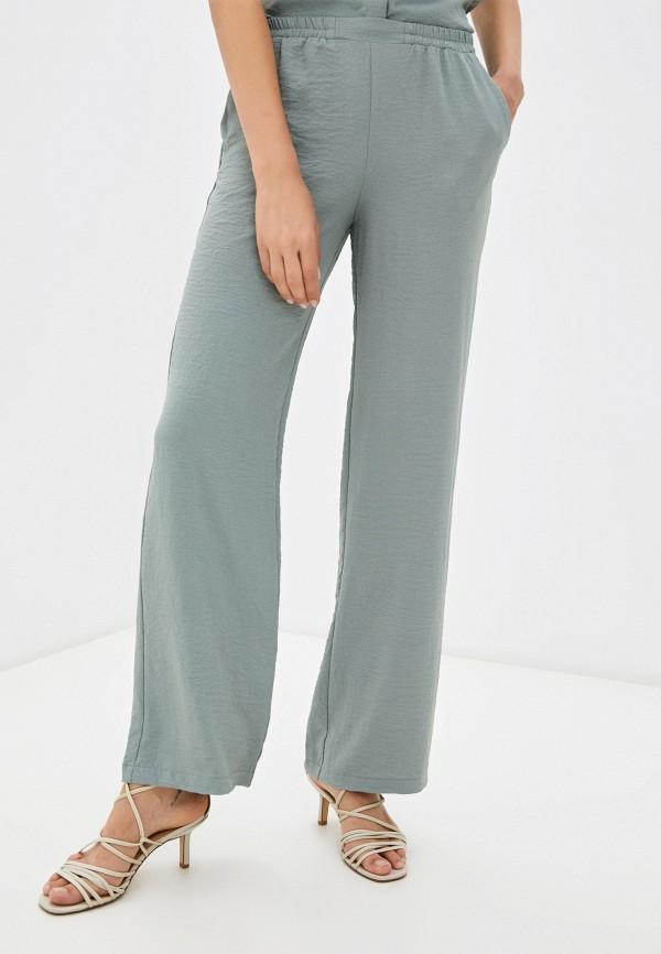 женские повседневные брюки mironi, бирюзовые