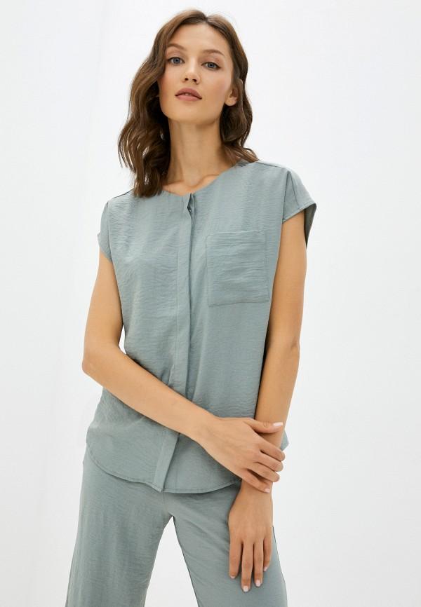 женская блузка с коротким рукавом mironi, бирюзовая