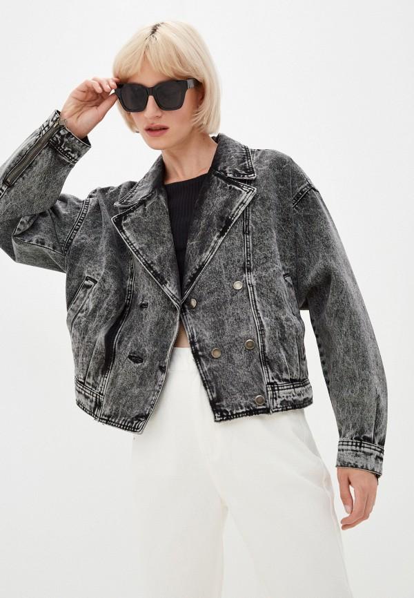 женская джинсовые куртка befree, серая