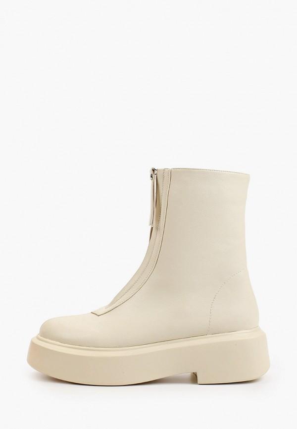 женские высокие ботинки араз, бежевые