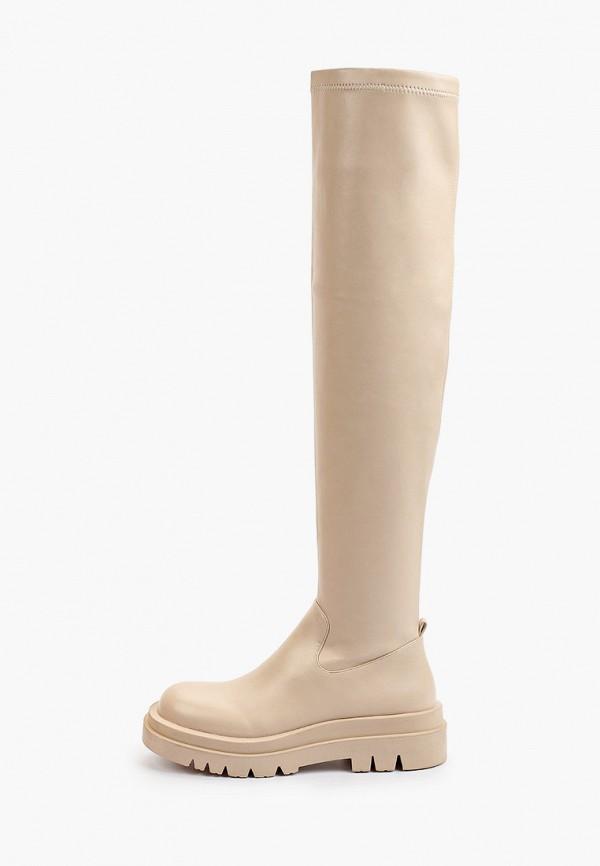 женские резиновые сапоги араз, бежевые