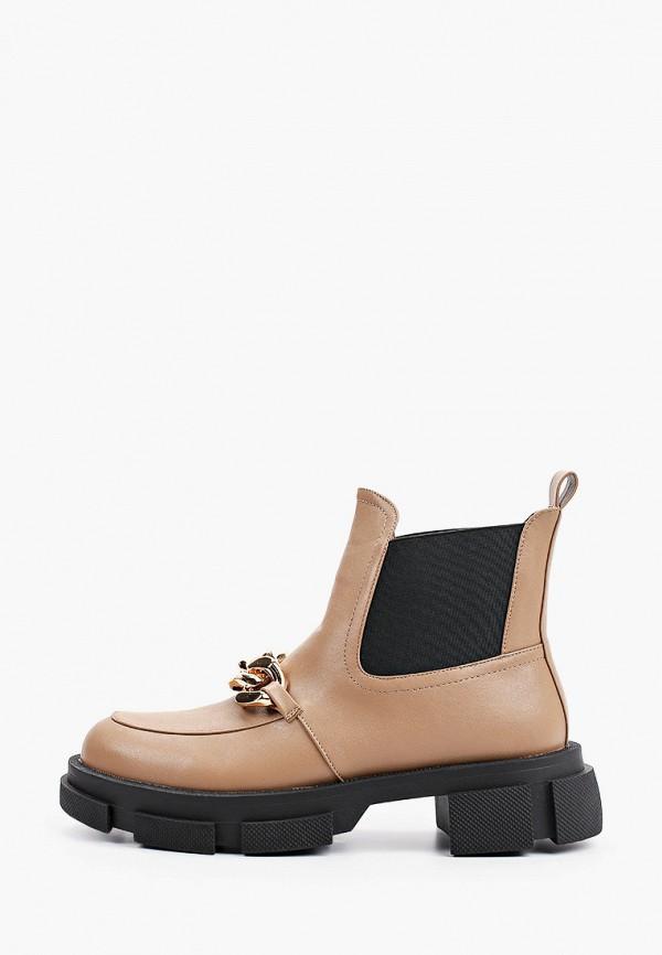 женские ботинки-челси may vian, коричневые