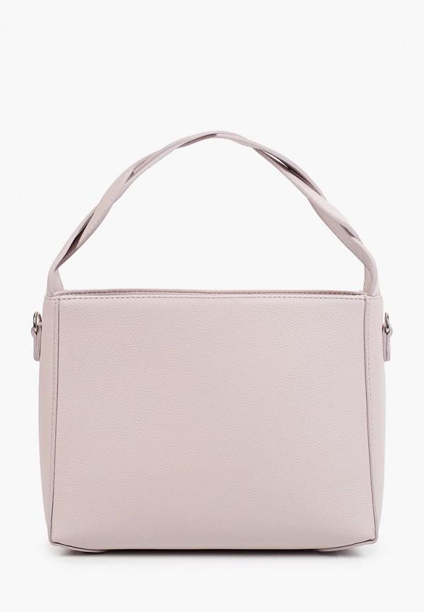 женская сумка с ручками solo, розовая