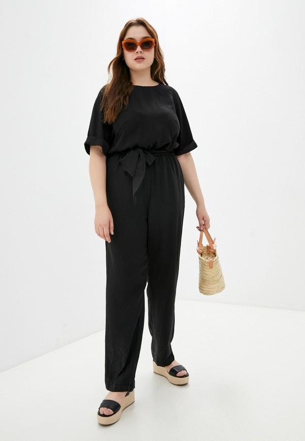 женский комбинезон с брюками asv fashion design, черный