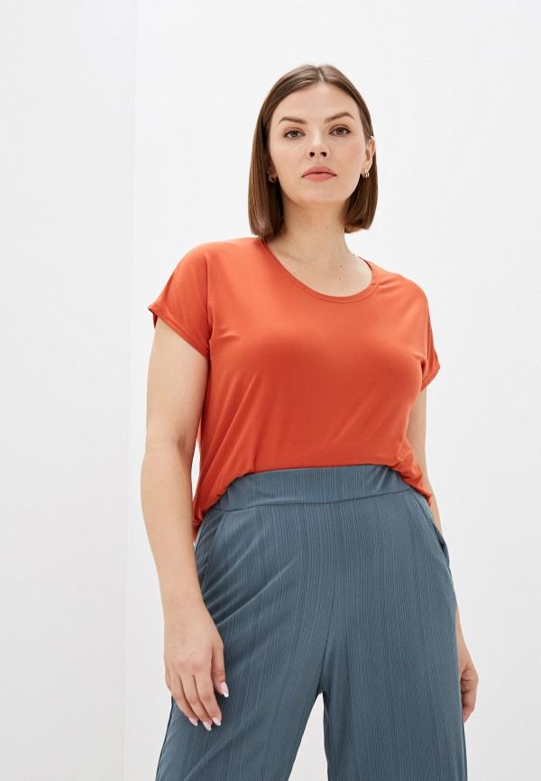 женская футболка olsi, оранжевая