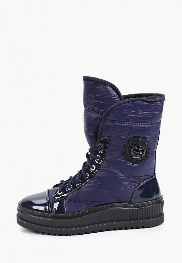 женские высокие ботинки king boots, синие
