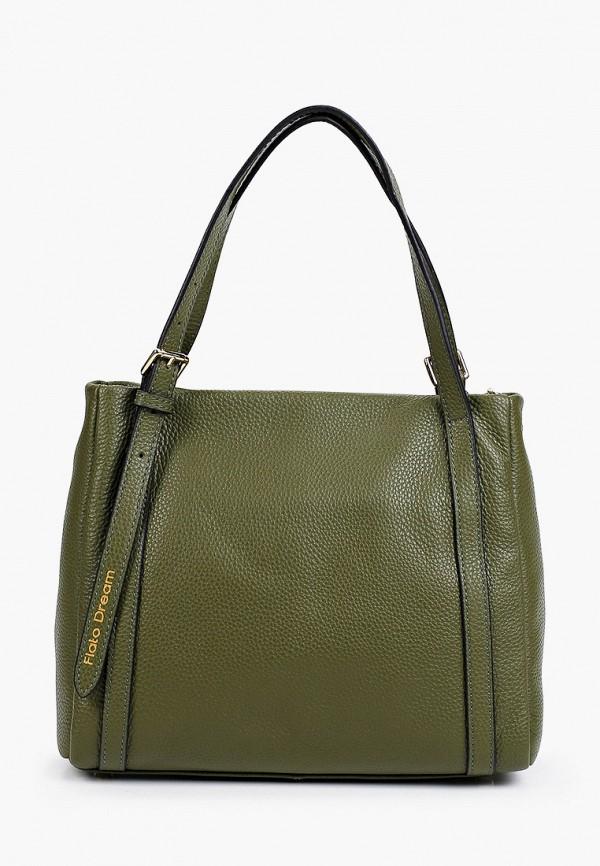 женская сумка с ручками fiato, хаки