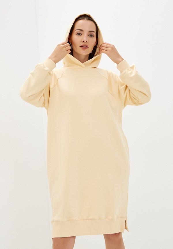 женское платье-толстовки baon, бежевое