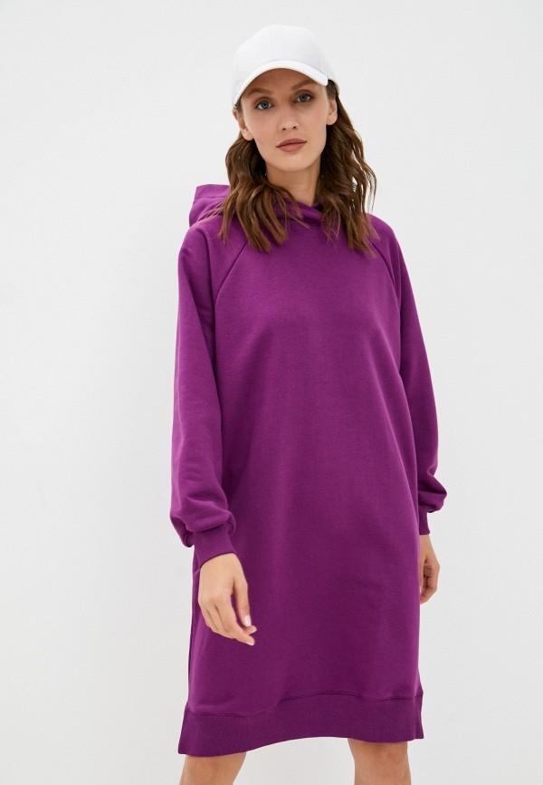 женское платье-толстовки baon, фиолетовое