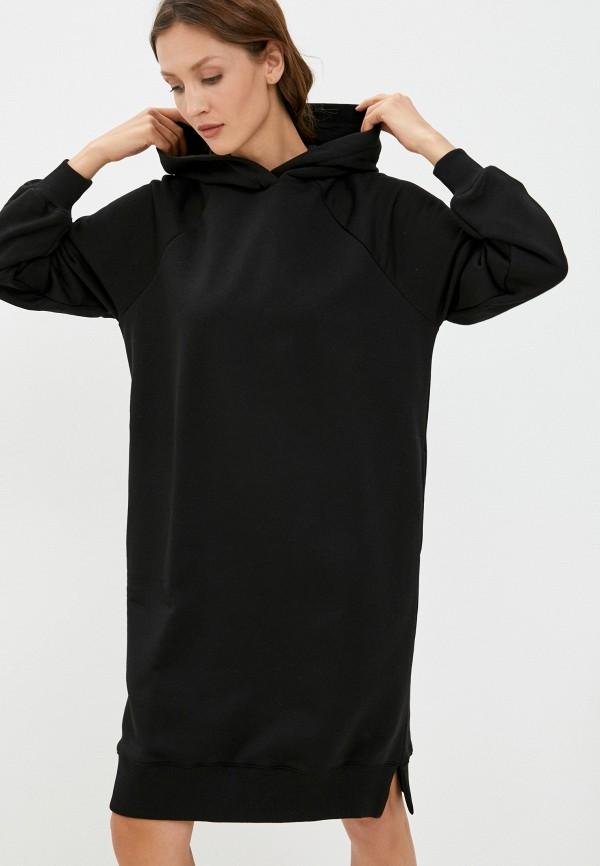 женское платье-толстовки baon, черное