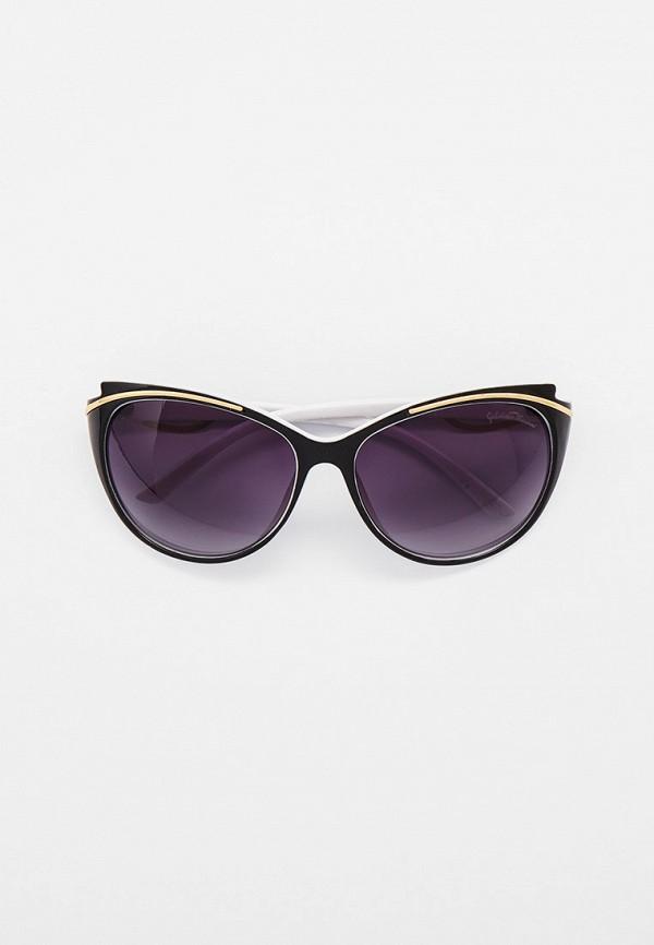 женские солнцезащитные очки кошачьи глаза gabriela marioni, черные