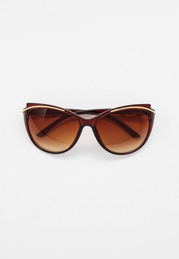женские круглые солнцезащитные очки gabriela marioni, коричневые