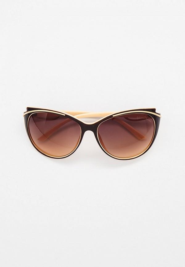 женские солнцезащитные очки кошачьи глаза gabriela marioni, коричневые