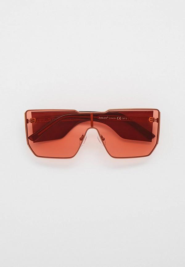 женские квадратные солнцезащитные очки furlux, розовые