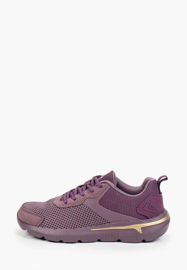 женские низкие кроссовки demix, фиолетовые