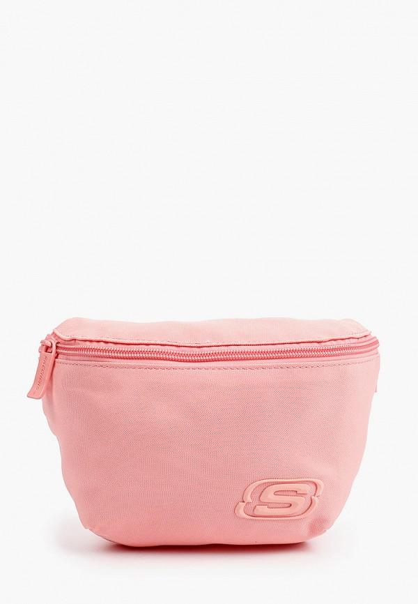 женская поясные сумка skechers, розовая