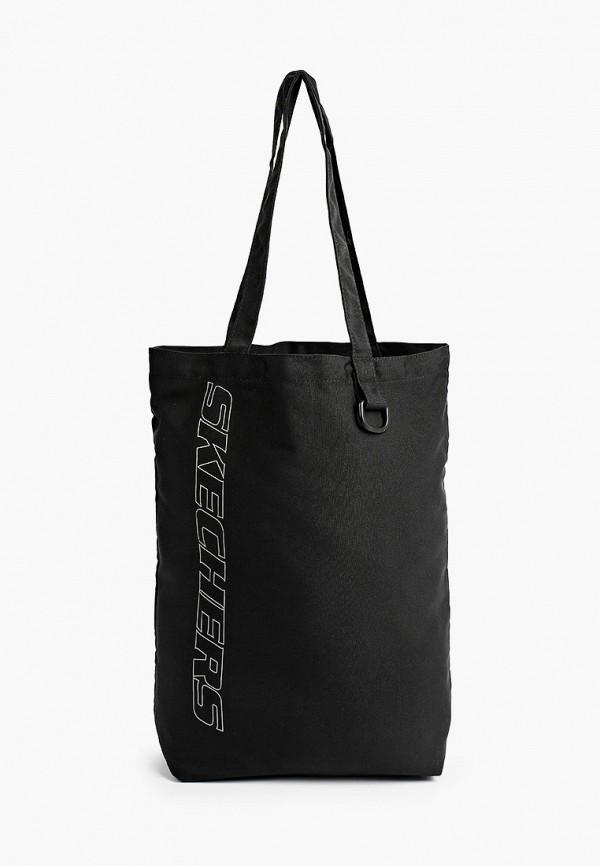 женская сумка-шоперы skechers, черная