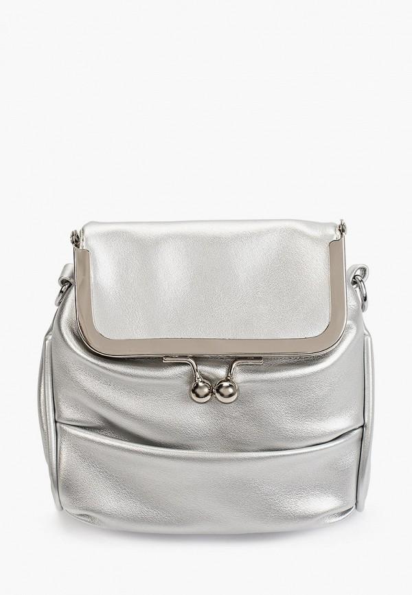 женская сумка через плечо артми, серебряная