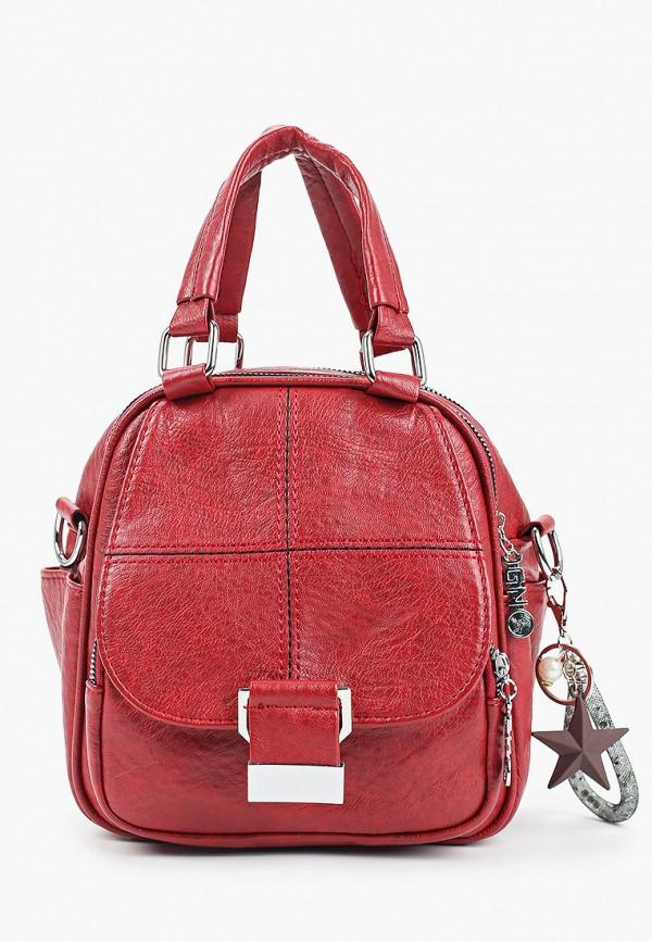 женская сумка с ручками артми, бордовая