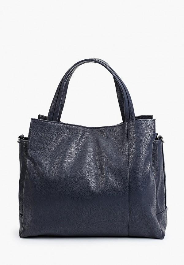 женская сумка с ручками медведково, синяя