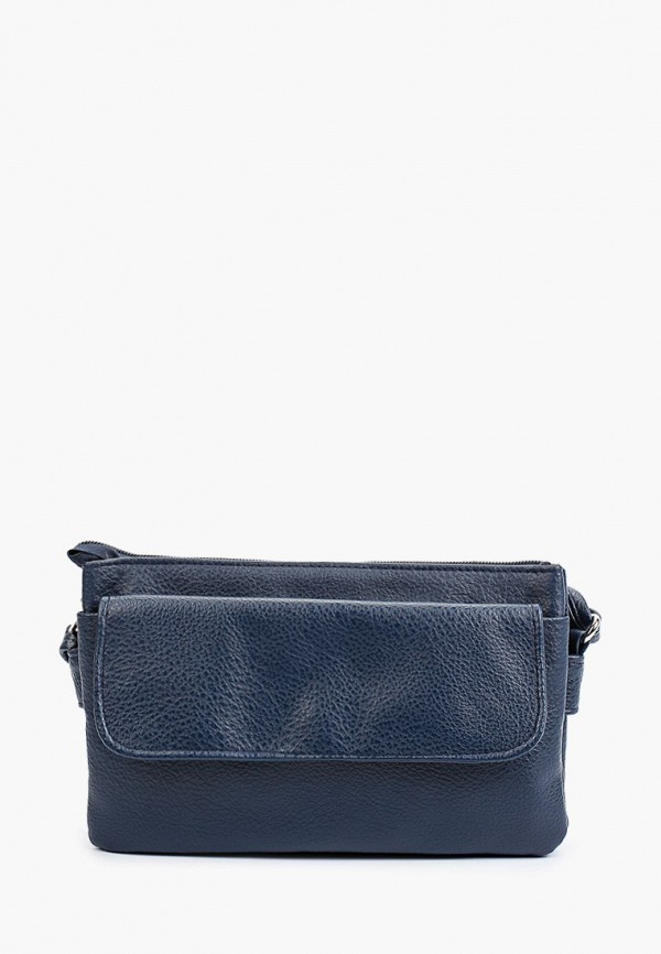 женская сумка через плечо медведково, синяя